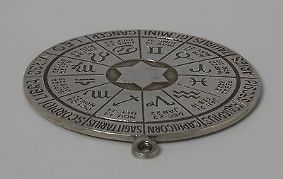 """""""DUNHILL"""" Signed Sterling Silver Zodiac Compass Astrology Pendant Star of David"""