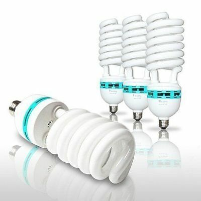 4 X 65W Bulb Photo Studio Compact Day Light Fluorescent Lamp 6500K 120V E26