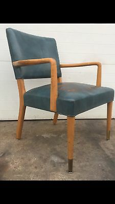 Stow And Davis Distressed Leather Chair Mid Century Modern Vintage
