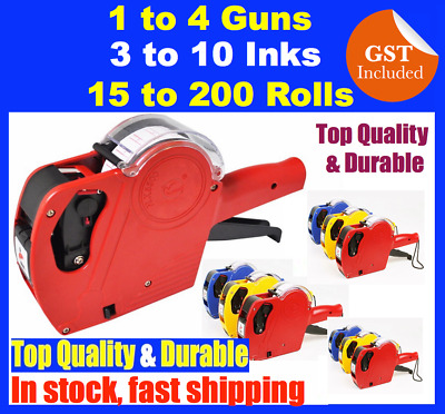 BULK Price Pricing Tag Tagging Gun Labeller Plus Labels Rolls Inks 1 To 200 NG11
