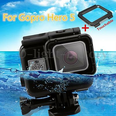 Black Waterproof Housing Cover Case Shell Touch Screen Backdoor For Gopro Hero 5