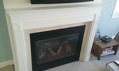 """Fireplace Mantel Surround 58"""" Overall Width x 48"""" High"""