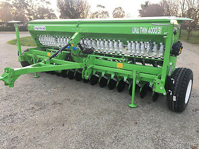 NEW LINA Direct Drill TWIN DISC Seed Drill + FERTILIZER..2500/19  Ph 0413762085