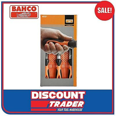 Bahco 3 Piece 200mm (8″) File Set & Carry Pouch - 1-473-08-2-2