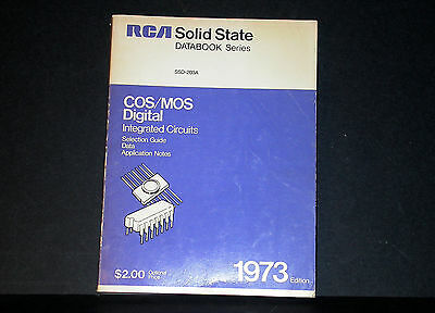 RCA CMOS MOS Digital Integrated Circuits Databook Data Book 1973