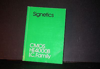 Signetics CMOS HE4000B IC Family Data Book Databook 1980