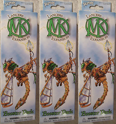 WizKids Mage Knight Lot of 3x Lancers Expansion Booster Packs (Mint, Sealed)
