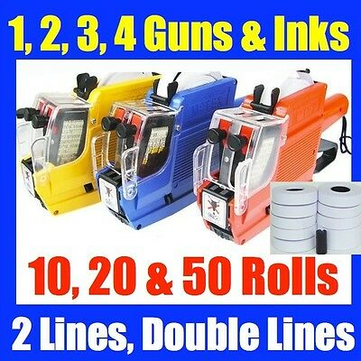 Double Lines Row Price Pricing Tag Tagging Gun Labeller Labels Inks BULK