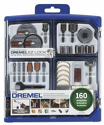Dremel All Purpose Cutting Rotary Hand Tool Accessory Kit Storage Case 160 Piece