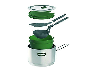 Stanley Adventure Prep & Cook Set Outdoor Camping 10 Teilig Stainless Steel Pot
