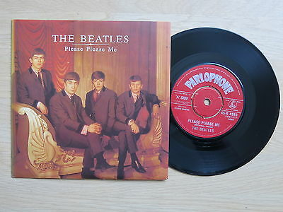 "THE BEATLES Please Please Me UK 7"" in picture sleeve Parlophone R 4983 1983 Ex+"