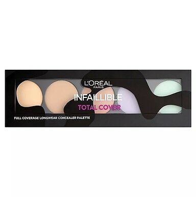 L'Oreal Paris Infallible Total Cover Concealer Palette - New - Free Postage
