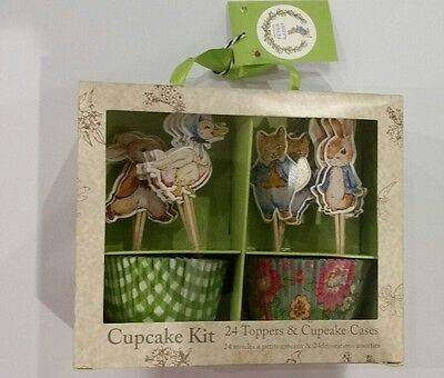 Peter Rabbit Cupcake Toppers & Wrappers Box Set 48 Pcs Baby Shower | Party