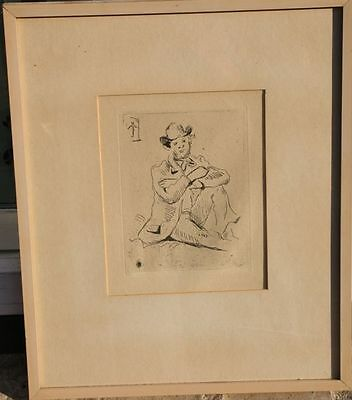 Paul Cézanne Portrait A. Guillaumin au Pendu French 1839-1906  Etching Radierung