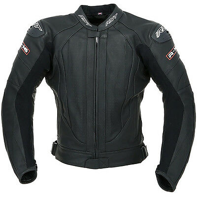 RST R-16 Leather Sports Motorcycle Jacket - Black