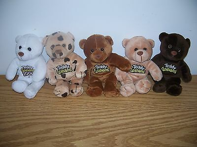 Teddy Grahams Plush Beanie Bears 2000 ~Complete Set Of 5