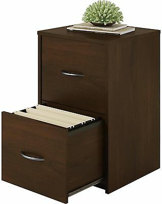 File Cabinet 2 Drawer Storage Home Office Furniture Wood Hanging Files Cherry
