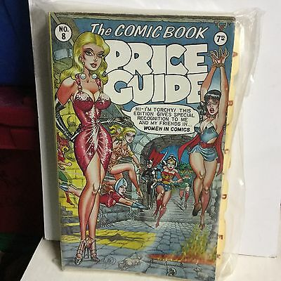 Comic book rare vintage Overstreet price guide 8th issue