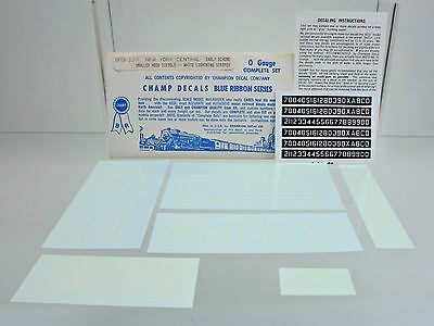 Champ O Gauge Br110 New York Central Small Hood Diesels Decal C-B