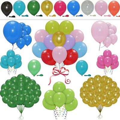 100 / LARGE PLAIN BALONS BALLONS helium BALLOONS Quality Birthday Wedding BALOON