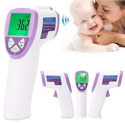 Infrared Body Thermometer Non-Contact Medical Digital Baby Adult Forehead Purple