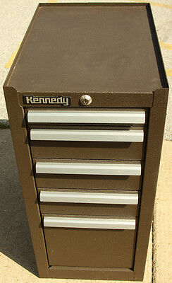 Kennedy 205B Machinists' Mechanics' 5 Drawer Tool Box Chest Cabinet Hang-On Side