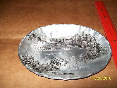 Pittsburgh Scene,Point,Incline On Oval Bowl Wendel August Forge~Grove City,Pa,