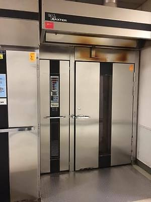 Used Baxter OV210G-M2B Double Rack Roll In Gas Oven with Hood