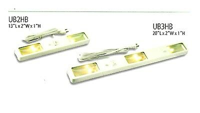 "Westek DESIGNER Halogen UNDER CABINET LIGHTING 13"" 25W 120V UB2RB Brass NEW"