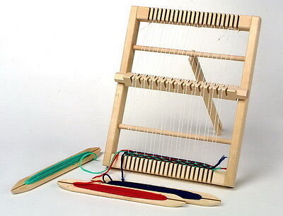 Legler Traditional Wooden Weaving Loom Craft Work Item Three Shuttles Girls Gift