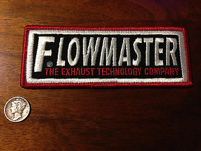 Vintage FLOWMASTER The Exhaust Technology Co Jacket Shirt Advertising Patch