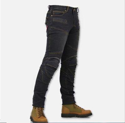 KOMINE Mens Jeans Motorcycle jeans prevention injured Pants Racing trousers jean