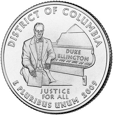 2009 P District of Columbia Quarter BU