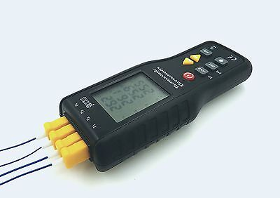 Perfect-Prime TC41 4-Channel K-Type Digital Thermometer Thermocouple Sensor -...