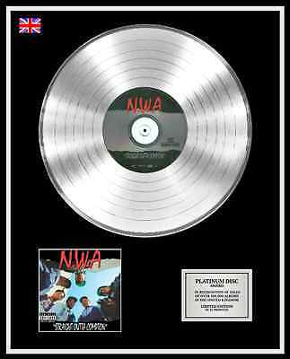 NWA Ltd Edition CD Platinum Disc Record STRAIGHT OUTTA COMPTON