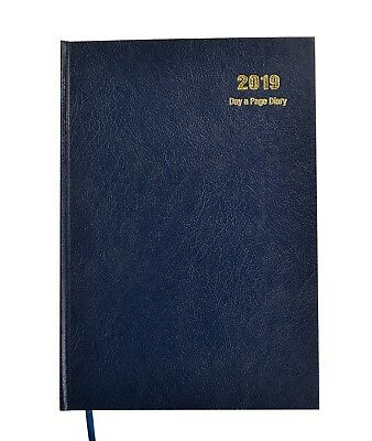 2018 A4 Day To A Page  Early Edition Diary - Blue