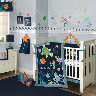 Lambs & Ivy Bubbles and Squirt 5 Piece Bedding Set (Discontinued by Manufacturer