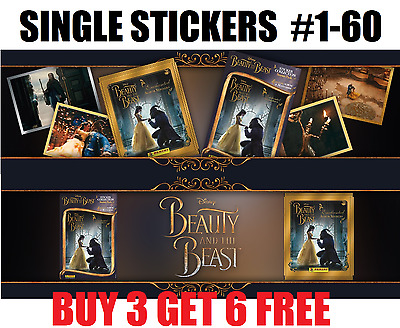 Panini Beauty And The Beast Album Stickers  #1-60 Buy 3 Get 6 Free