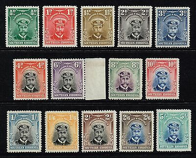 Southern Rhodesia 1924-29 King George V set to 5s., MH (SG#1/14)