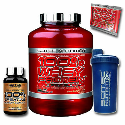 Scitec Nutrition 100% Whey Protein Professional 2350g Eiweiss + 100g Creatin