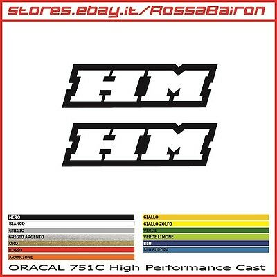 KIT 2 ADESIVI HM MOTO HONDA CRF mm.100x28 - STICKERS AUFKLEBER PEGATINAS DECALS