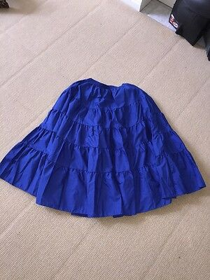 Malco Modes Blue Tiered Square Dancing Skirt Ladies Size M
