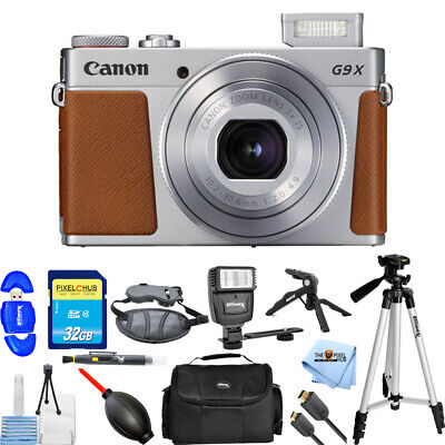 Canon PowerShot G9 X Mark II Digital Camera (Silver)!! PRO BUNDLE BRAND NEW!