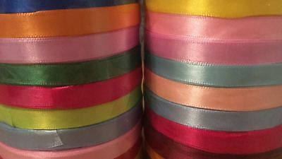 6mm Satin Ribbon,All Colours.Thin Ribbon trim, 5 meters,craft,wedding,cards