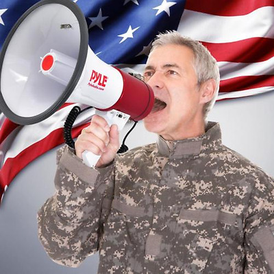 Professional Megaphone Siren Microphone Music Bullhorn Loud Speaker Cheerleading