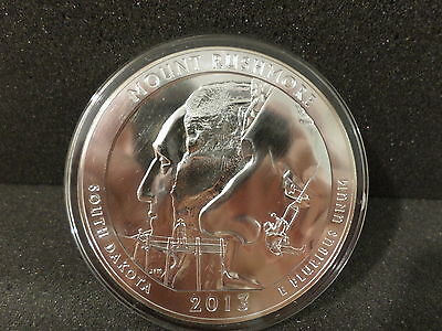 5 oz .999 FINE SILVER AMERICA the BEAUTIFUL MOUNT RUSHMORE COIN 2013