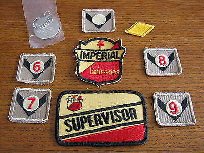 Vintage Lot Of Imperial Refineries Service Station Employees Patches & More NOS