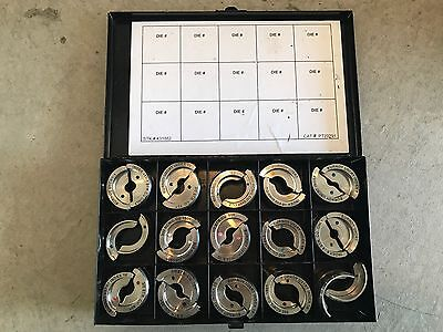 BURNDY Y35 SET OF 15 Crimping Stainless u Dies For Hydraulic Crimper