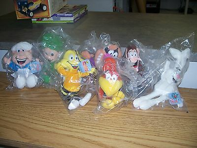 General Mills 1997 Breakfast Pals Beanie Plush-New In Bag W/tags-Set Of 7