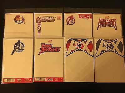 Lot of 8 Different Avengers Blank Variant !  Bags Boards !
